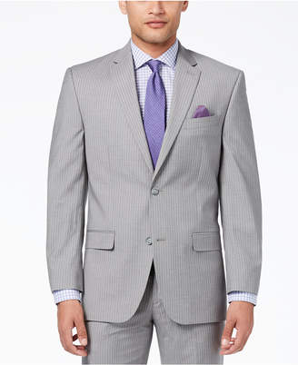 Sean John Men's Classic-Fit Stretch Gray Stripe Suit Jacket