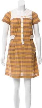 Steven Alan Short Sleeve Plaid Dress