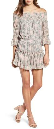 MISA LOS ANGELES Geroux Off the Shoulder Blouson Dress