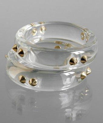 CC Skye set of 2 - clear lucite spike bangles