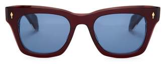Jacques Marie Mage - Dealan D Frame Acetate Sunglasses - Mens - Red