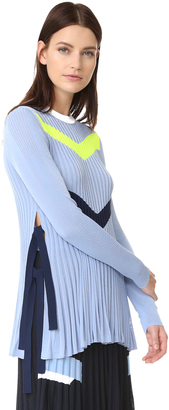 Versace Knit Chevron Sweater $995 thestylecure.com