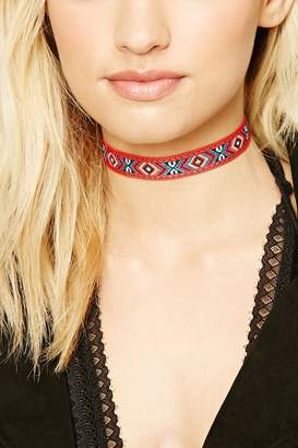 Forever 21 Abstract Woven Choker Set