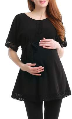 Kimi and Kai Lace Trim Maternity Tunic