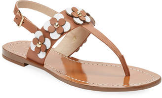 Kate Spade Leather Floral Thong Sandal