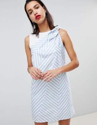Sportmax CODE Code Zig Stripe Shift Dress