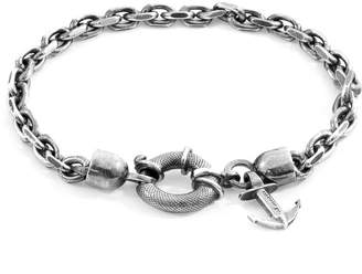 Anchor And Crew Salcombe Mooring Silver Chain Bracelet