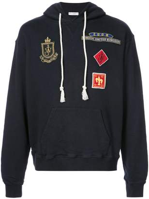 J.W.Anderson patch detail hooded sweatshirt