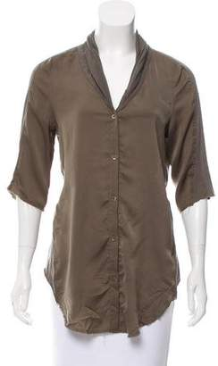 Helmut Lang Paneled Button-Up Top