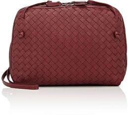 Bottega Veneta Women's Intrecciato Double Messenger Bag-BURGUNDY $2,000 thestylecure.com