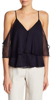 The Jetset Diaries TJD Babette Sheer Cold-Shoulder Top