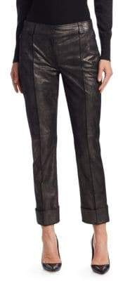 Akris Maxima Pearlized Leather Pants