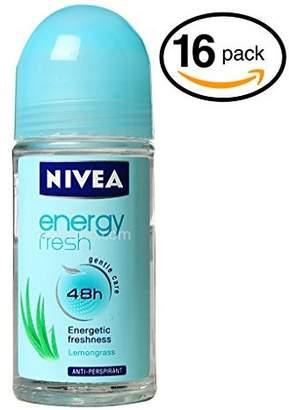 Nivea (Pack of 16 Bottles Women's Roll-On Antiperspirant & Deodorant. 48-Hour Protection Against Underarm Wetness. (Pack of 16 Bottles