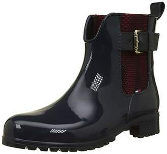 cdb0359ea Tommy Hilfiger Women s Cool Tommy Ribbon Rainboot Wellington Boots