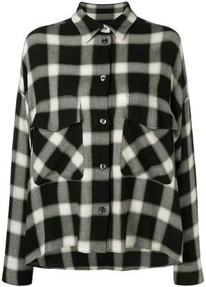 MM6 MAISON MARGIELA plaid flannel shirt