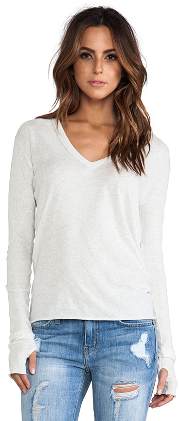 Enza Costa Cashmere Loose V Sweater