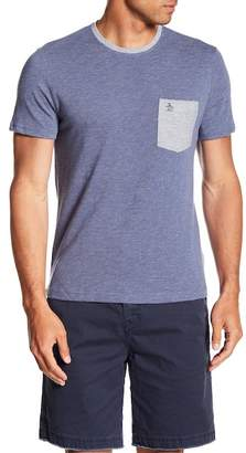 Original Penguin Short Sleeve Plaited Slub Pocket Tee