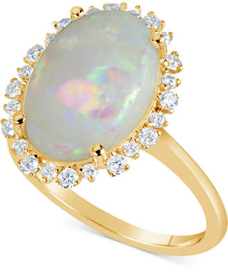 Macy's Opal (4 ct. t.w.) & Diamond (1/4 ct. t.w.) Ring in 14k Gold