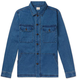 Faherty Corporal Indigo-dyed Denim Shirt Jacket - Blue