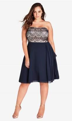 City Chic Eyelash Ebony Dress