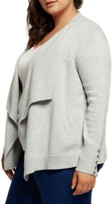 Dex Draped Open-Front Cardigan