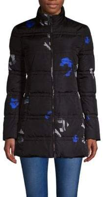 Salvatore Ferragamo Outerwear Floral Down Coat