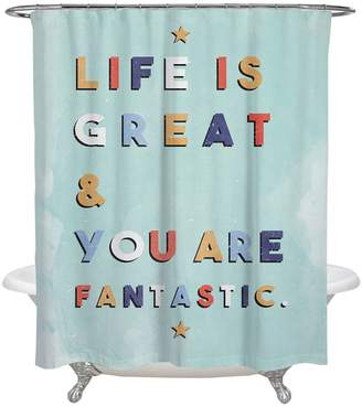 Oliver Gal Life is Great & Fantastic Shower Curtain