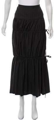 Etro Striped Wool Maxi Skirt