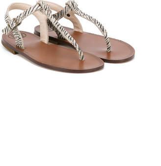 Pépé zebra print sandals