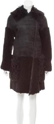 Zac Posen Lilian Shearling Coat w/ Tags