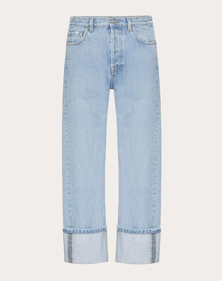 Valentino Baggy Fit Jeans Man Azure 29