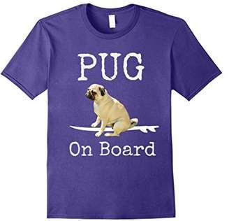 Pug On Board Funny T-Shirt