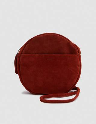 Baggu Circle Purse Two in Rust Suede