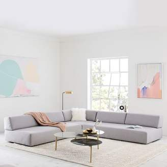 west elm Tillary® 8-Piece Sectional - Feather Gray (Chenille Tweed)
