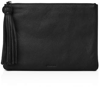 Whistles Supersoft Large Tassel Leather Pouch