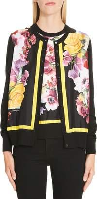 Dolce & Gabbana Floral Print Silk Cardigan