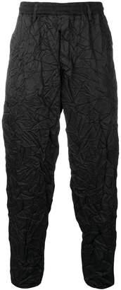 Yohji Yamamoto crinkled track trousers