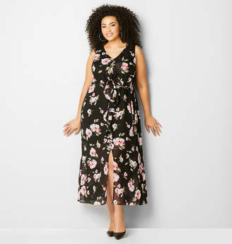 Avenue Ruffle Floral Maxi Dress