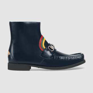 Gucci Children's rainbow Horsebit leather boot