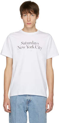Saturdays NYC White Miller Standard T-Shirt