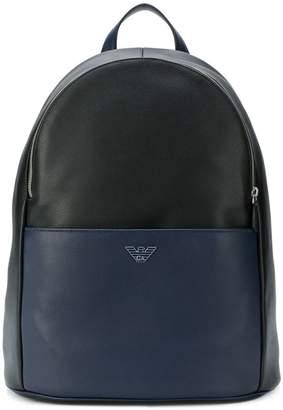 Emporio Armani bicolour backpack