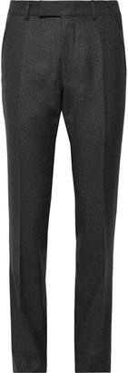 Tom Ford Dark-Grey Shelton Slim-Fit Wool-Flannel Trousers