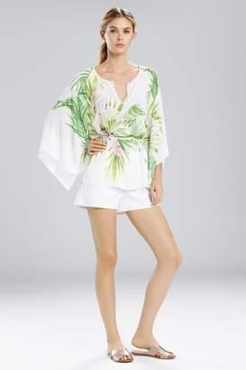 Natori Orchid Kimono Sleeve Top