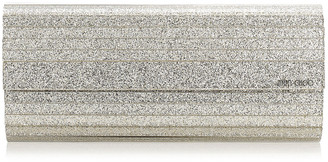 Jimmy Choo SWEETIE Champagne Glitter Acrylic Clutch Bag