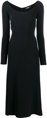 DSQUARED2 scoop neck crepe dress