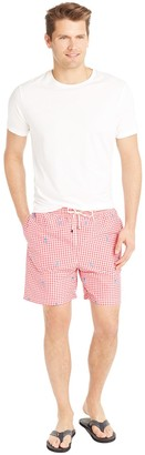 Gibson Swim Trunk in Gingham Skull $98 thestylecure.com