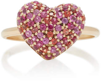 Shebee She Bee 14K Gold And Sapphire Heart Ring