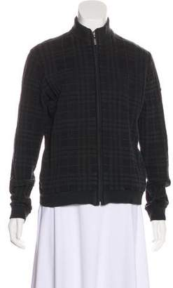 Burberry Golf House Check Zip-Up Sweater