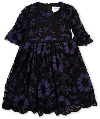 Little Angels (Toddler Girls) Floral Lace Fit & Flare Dress