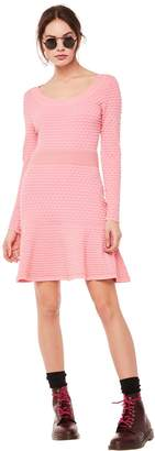 Juicy Couture Polka Dot Knit Jacquard Sweater Dress
